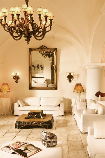Capri Palace Hotel & Spa in Italy has a noted art collection and it's own home and fashion line.