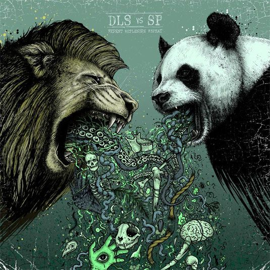 Dan Le Sac vs Scroobius Pip's 'Repent Replenish Repeat' album artwork by Paul Jackson.   The artwork was drawn by London artist Paul Jackson