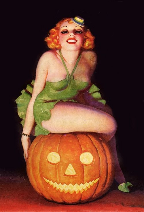 31 Days of Halloween pin-ups 9/31 —> Illustration by Enoch Bolles, 1945