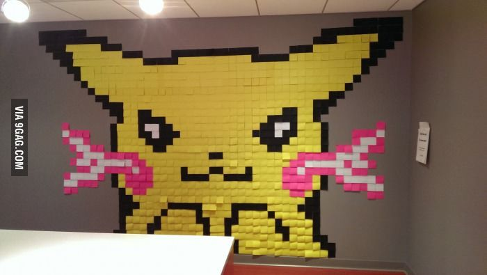 This is from the post-it note  party at my new job.