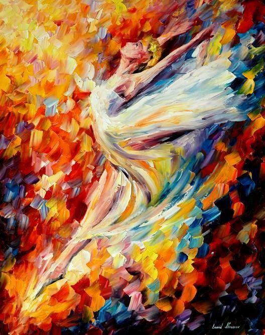 Festés festőkéssel, olajfestékkel - Leonid Afremov