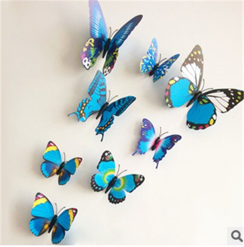 12pcs 3D Butterfly Art Decal Wall Stickers Home Decal Room Decorations D1945