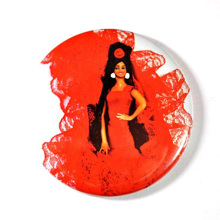 Imán Flamenca Roja