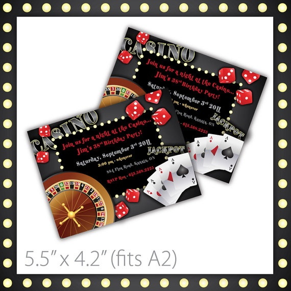 23 best images about luck be a lady - casino party on pinterest, Party invitations