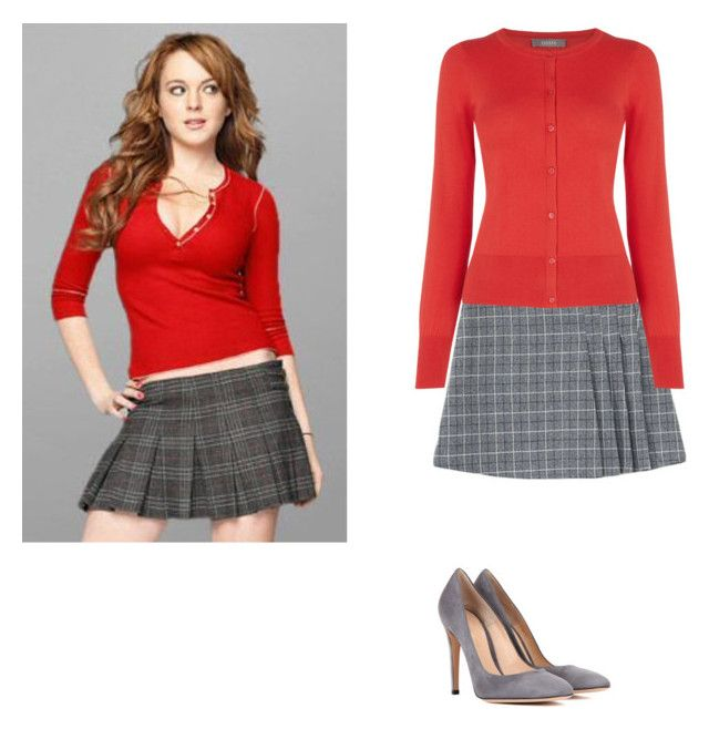 """""""Cady Heron Mean Girls"""" by seetherfan17 ❤ liked on Polyvore featuring Oasis and Gianvito Rossi"""