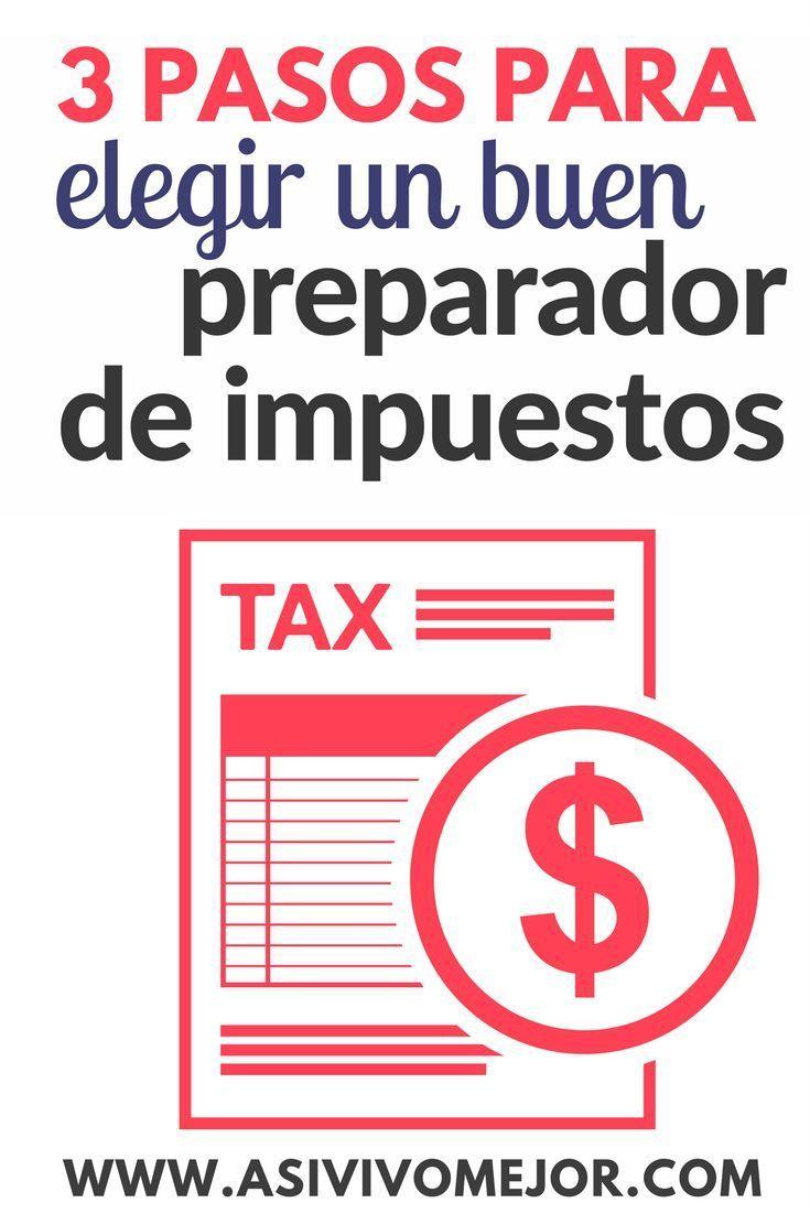 Sabias que hay diferentes preparadores de #impuestos? Aprende a elegir uno bueno y evitar fraude #finanzaspersonales #dinero #asivivomejor #hispanos #taxes #irs
