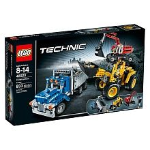 Build a whole construction site of awesome scaled vehicles with the LEGO Technic Construction Crew. This amazing set includes a Wheel Loader, a Dump Truck and an Excavator, each with a range of realistic, real world functions. The Excavator has a pivoting and articulating crane and 2 tough tracks, while the Wheel Loader has a lifting bucket and the Dump Truck has a tipping dump box to move heavy loads of earth. These are amazing models that will be a real test of your building skills and…