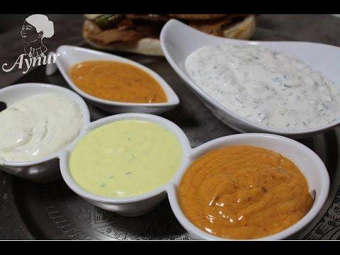En lezzetli Değişik 4 Çeşit döner sosu tarifi- verschiedene Döner Soßen - YouTube