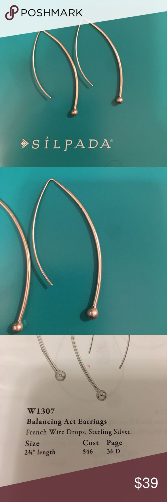 Silpada designs balancing act sterling silver Silpada designs balancing act sterling silver earrings. Silpada Jewelry Earrings