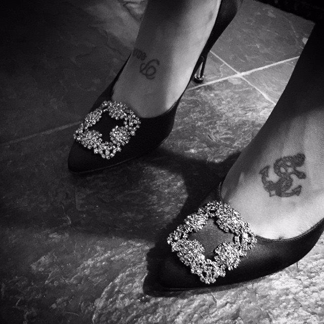 fefe dobson tattoos Anchor on foot. matching yelawolf tattoo