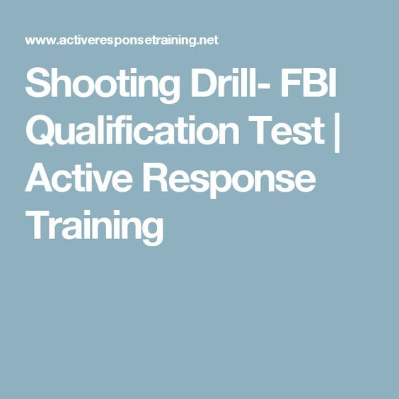 Shooting Drill- FBI Qualification Test | Active Response Training