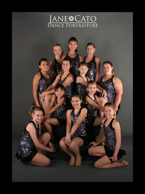 Jazz Dance Group Pose