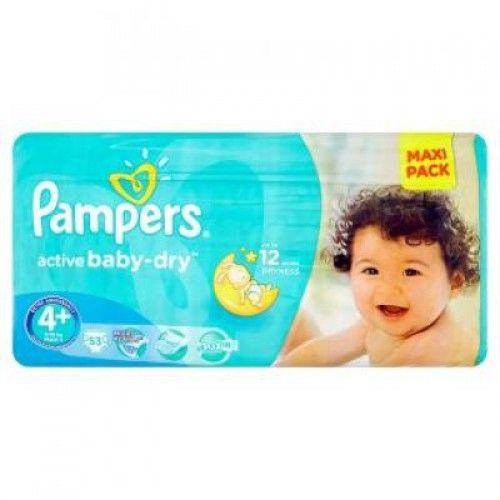 PAMPERS Active Baby Maxi Plus 9-16kg 53ks  Plenky Pampers pro miminko levně! Doprava zdarma při objednání nad 1000 Kč!   https://babyplenky.cz/