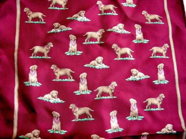 Brown Labrador Retriever Dog Women's Scarf Silk Marron Alynn