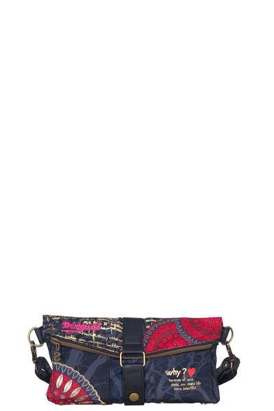 Red and black can't go wrong. This clutch bag is perfect for a stroll. You can take your essentials and it�s light and comfortable. With adjustable strap and both zip and popper fastenings. It measures 26.5�x�2�x�24�cm