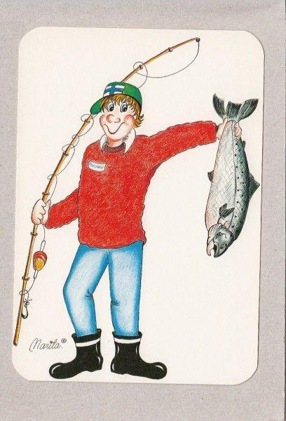 Marita Laitakari -- pojalla onki ja saaliskala -- kalastus - Huuto.net