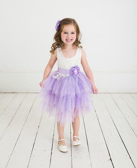 White Flower Girl Dress Rustic Lace Flower Girl Dressbaby Wedding