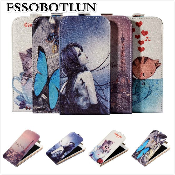 Factory price,Top quality Cartoon Painting Vertical flip PU leather mobile phone bag case cover For Cubot X16 S / X16S 5.0 Inch