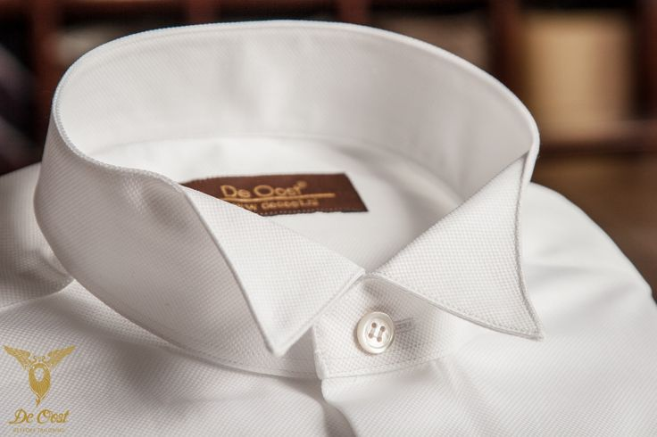 Wing Tip Collar Oxford Evening Shirt With Double Cuffs