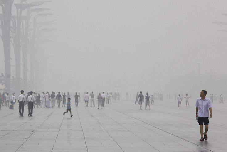 Смог в Китае. Реалии экологии Китая очень плачевны...