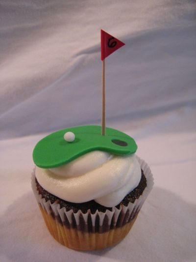 Golf Cupcakes By LadyinaRedApron on CakeCentral.com