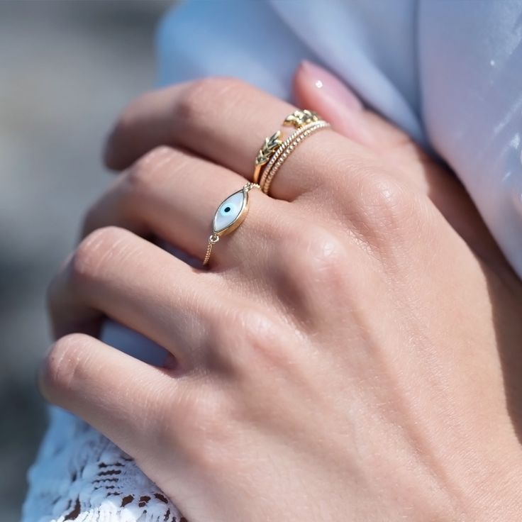 Olive ring by Mejuri x GWS
