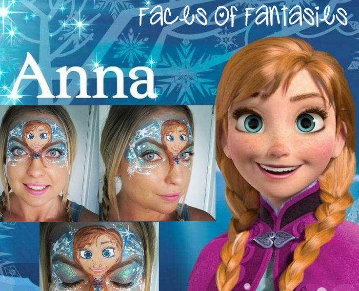 Princess Anna face paint from Disney's Frozen # ...