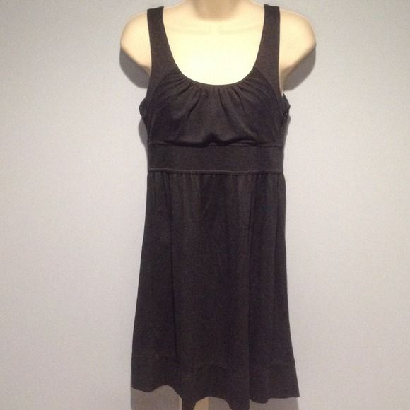 Ann Taylor dark grey dress ️buy 2, get 1  Cute and comfortable Ann Taylor size 2 petite dark grey dress. 89%rayon, 11% nylon. From nape of neck to bottom 27inches long.  everything in my closet is buy 2, get 1 free! Ann Taylor Dresses