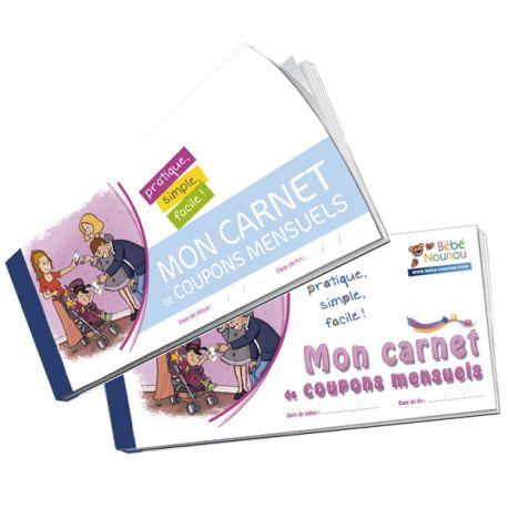 Carnet de coupons mensuels à remettre en fin de mois aux parents, pour faciliter leur déclaration Pajemploi (et/ou votre fiche de paye).