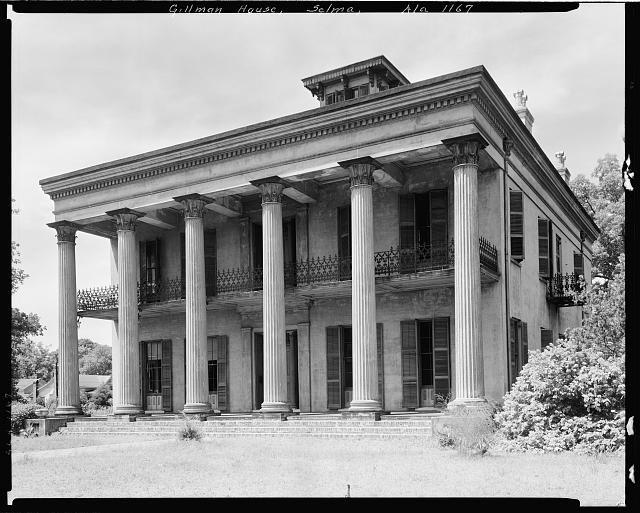 Watts-Parkman-Gillman Mansion [A.K.A. Sturdivant Hall] (Ca. 1856) - 713 Mabrey St., Selma, Dallas County, Greek Revival Alabama    M