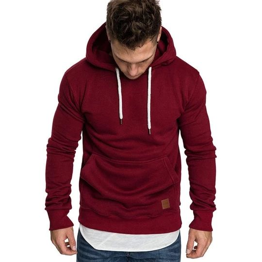 2018 New Arrilval Men's Sportswear High Street Hoodies Sweatshirt Male Autumn Pullover Red Black Men Stranger Things