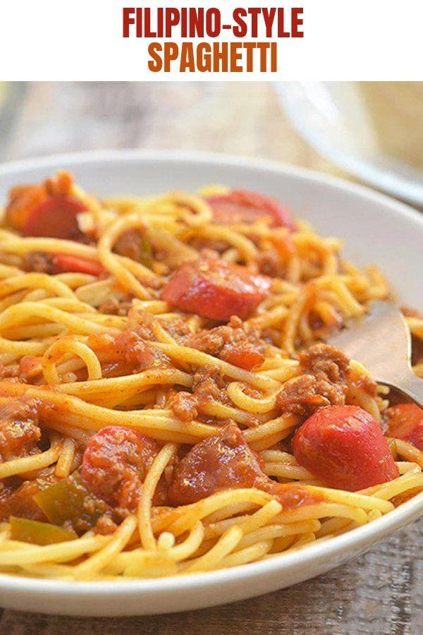 Filipino Style Spaghetti Recipe Filipino Style Spaghetti Filipino Style Hot Dog Recipes