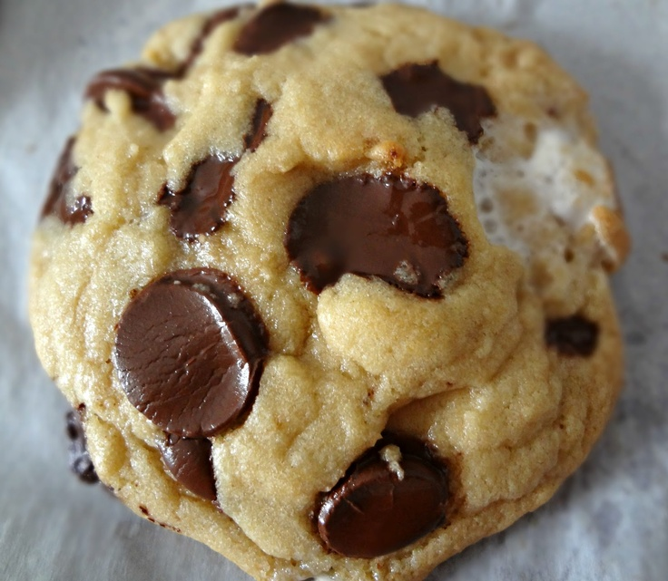 Browned Butter Dark Chocolate and Marshmallow Cookies.