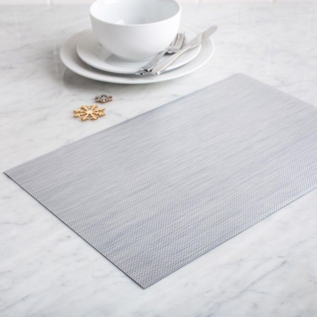 Add a modern touch to your dining table with a Ritz Metallic PVC Placemat. Contemporary design and easy to clean PVC makes these the perfect placemat for any home.