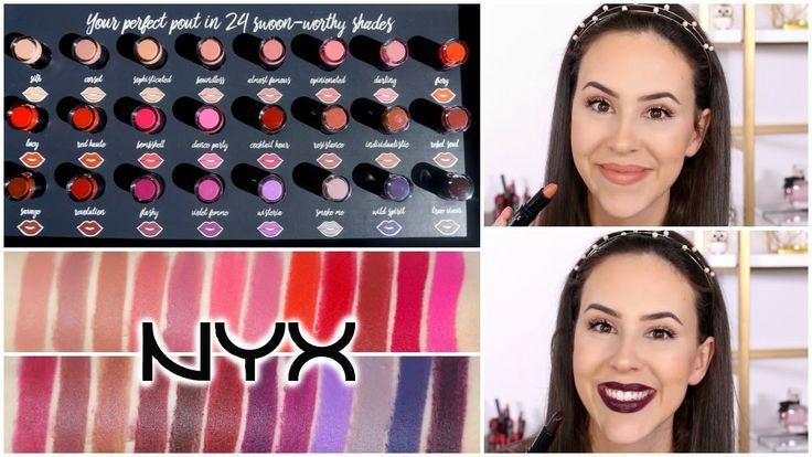 NYX Pin Up Pout Lipstick || ALL 24 Lip Swatches & Review