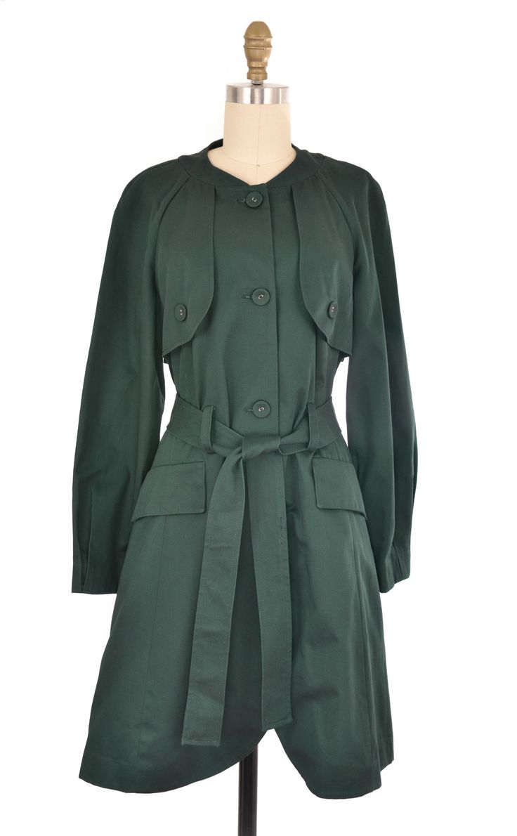 Simply Vera Forest Green Trench Coat Size M #simplyvera #forest #green #trench #coat #jacket #outerwear #fashion #style #shopforacause #bottomlesscloset