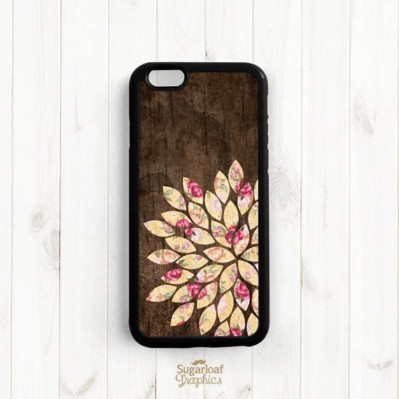 Shabby Chic Dahlia iPhone 6 6 Plus Case, Printed Image Wood Pattern Galaxy S3 S4 S5 S6, iPhone 5 5s 5c 4s Case, Samsung Note 3 4 Case UL12a