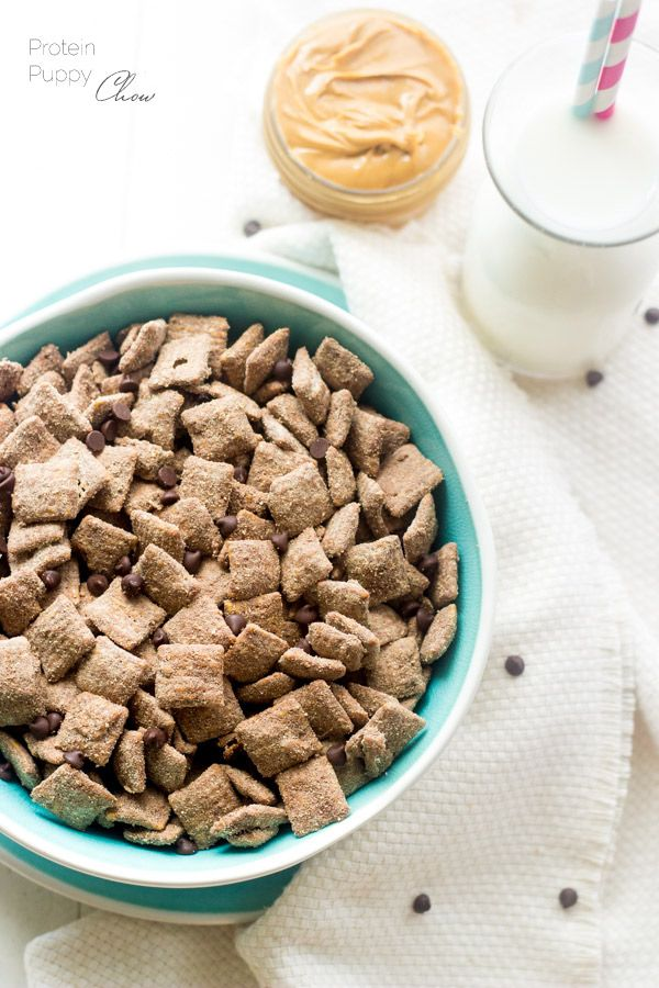 Protein Puppy Chow - Add a little health boost to the classic snack that is quick, easy and great for kids!   Foodfaithfitness.com   #puppychow #recipe #healthysnack