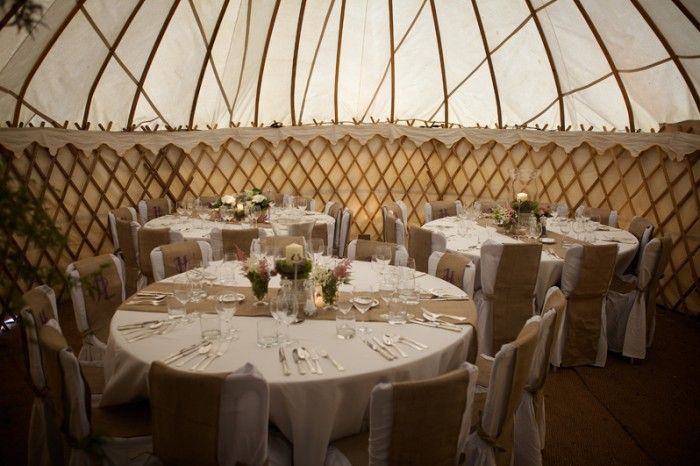 Intimate dinner party in one of LPM Bohemia yurts.