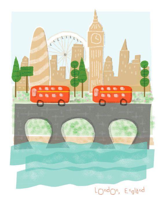 London England art print  8x10  big ben city by confettielove, $14.00