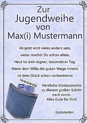 Details Zu Jugendweihe Urkunde Zur Jugendweihe Geschenk Gluckwunsch