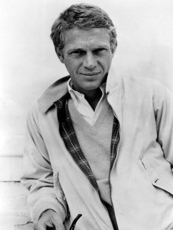Steve McQueen in Harrington jacket, button down shirt and v-neck. An incredibly stylish dresser, especially for an American. www.moncler.at.nr    WOW! love love love. I think you will like it .credit card accept. Share with you…ahah MONCLER JACKETS  $169