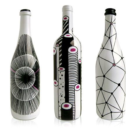 Wine packaging bottles.
