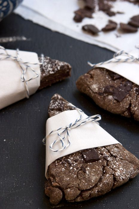 Double Chocolate Banana Scones, vegan and gluten-free (coconut flour, oat flour, baking