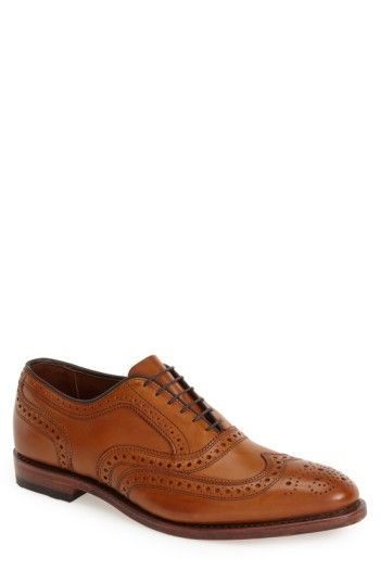 Free shipping and returns on Allen Edmonds 'McAllister' Wingtip (Men) at Nordstrom.com. Perforated trim with pinked edging adds rich detail to a timeless wingtip crafted from smooth calfskin leather in a smart fit that accommodates higher arches.