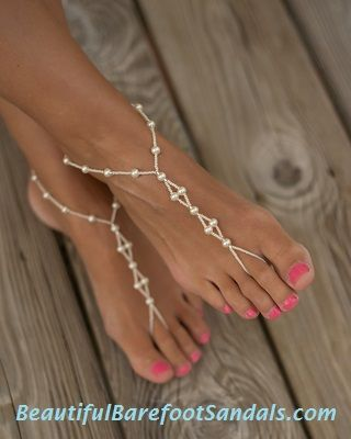 Beautiful Barefoot Sandals, Foot Jewelry, Wedding Sandals. $29.95. Cute especially if wedding is on a beach or in hot climates.