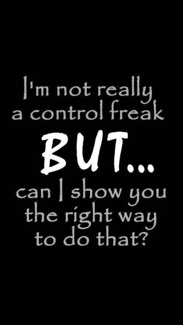 control freaks symptoms