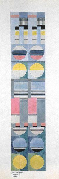 Designs for Jacquard Wall Hangings and Fabrics - Gunta Stölzl