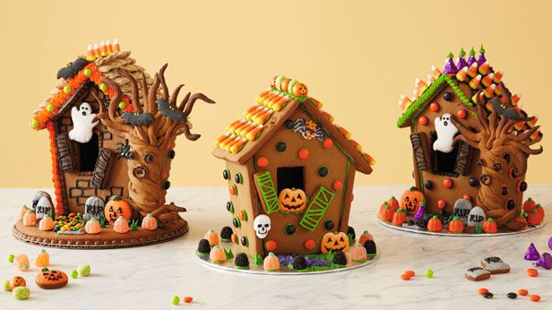 Scare up some fun with a Halloween gingerbread house! Includes gingerbread recipe, patterns and step-by-step instructions. #Hallmark #HallmarkIdeas