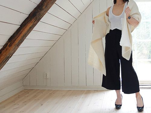 high waisted pants or culottes makes you look taller